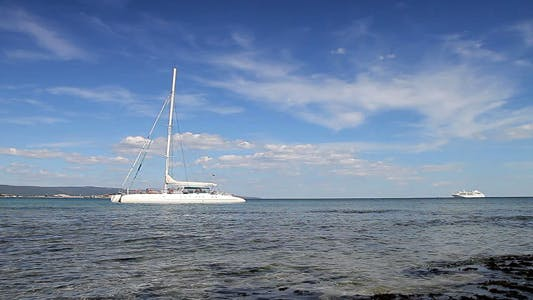 Thumbnail for White Catamaran On The Sea