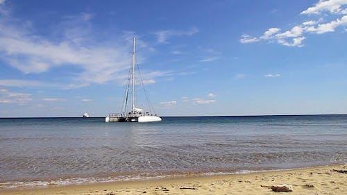 Catamaran Near To The Beach