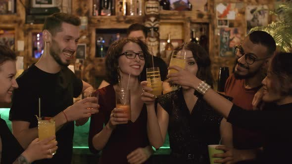 Thumbnail for Cheerful Friends Having Party at Bar