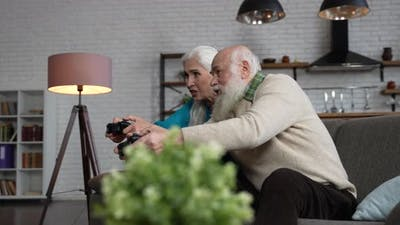 Modern Old People During Domestic Gaming Activity