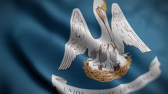 Louisiana State Flag Close Up HD