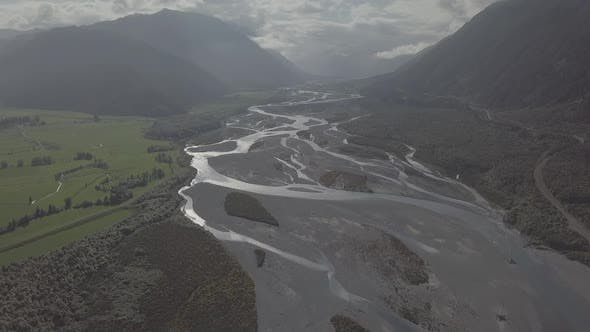 Thumbnail for Meandering river in the valley