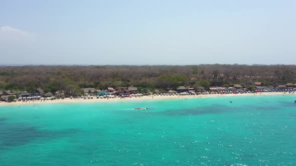 The Playa Blanca or White Sand Beach Cartagena Colombia