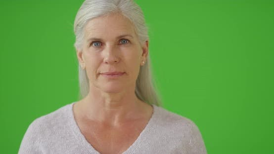 Thumbnail for An older woman on green screen