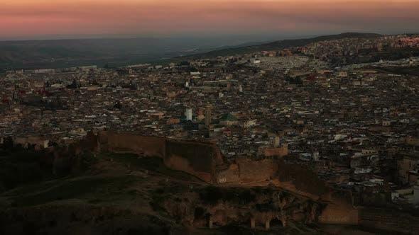 Thumbnail for Medina in Fes at Sunset, Morocco, Timelapse