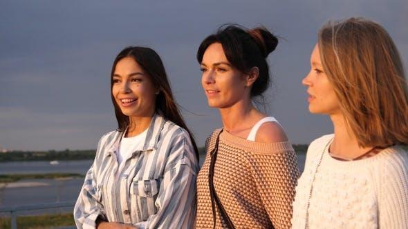 Group of Beautiful Girls Taking a walk.