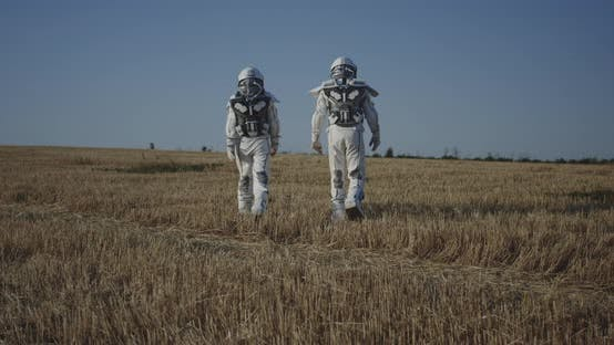 Thumbnail for Two Astronauts Crossing a Field