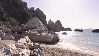 Rocky Coast of Tropical Island