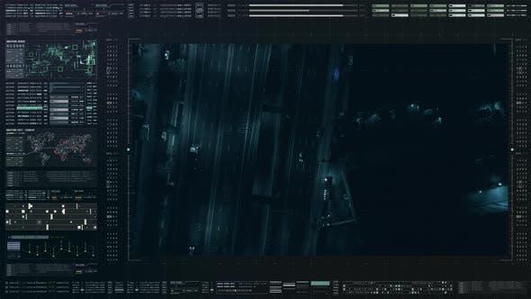 Thumbnail for Futuristic Satellite Surveillance HUD 02