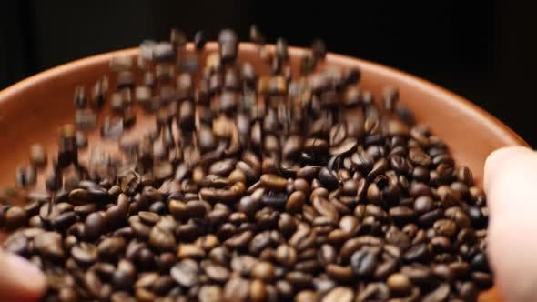 Thumbnail for Farmer Throws Up Roasted Coffee Beans
