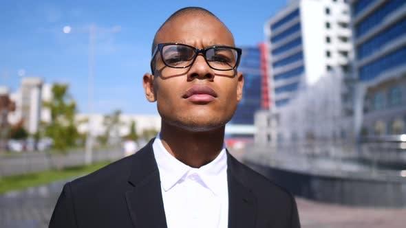 Portrait Of Handsome Diverse Businessman