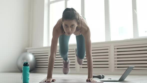 Thumbnail for Sportswoman Doing Intensive Cardio Exercise