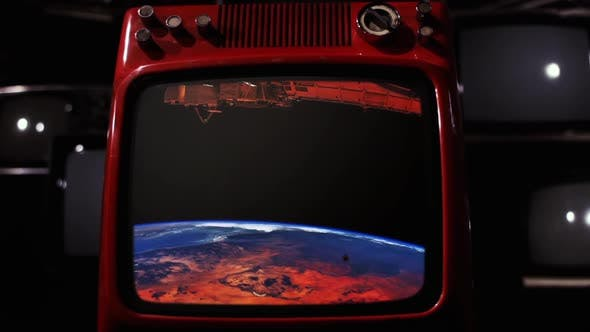 Thumbnail for ISS Crossing Africa On a Retro TV.