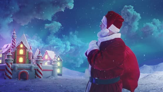Thumbnail for Santa Claus Leaving Magic Kingdom in Christmas