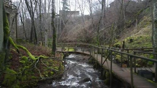 Nature park waterfall