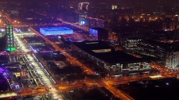 Thumbnail for China Convention and Beijing Aquatics Centers Timelapse