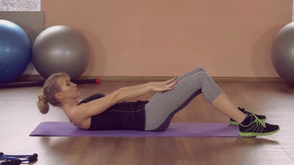 Thumbnail for Girl Doing Physical Exercises Strength Abs