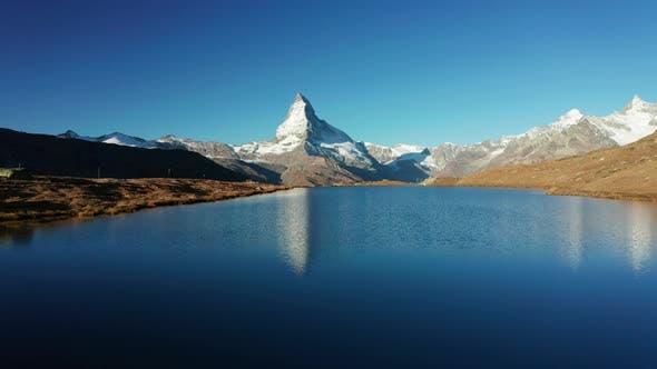 Thumbnail for Matterhorn Peak Reflected in Stellisee Lake in Zermatt, Switzerland.