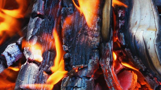 Wood and Coal Fire 2