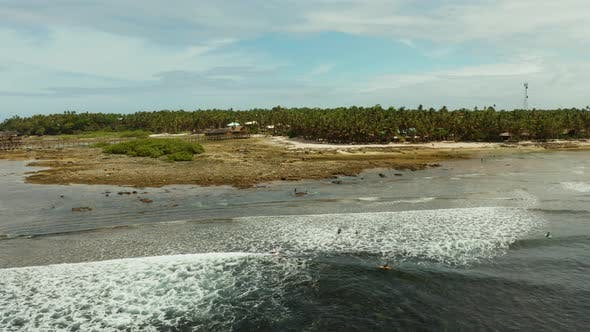 Thumbnail for Surf Spot on the Island of Siargao Called Cloud 9.