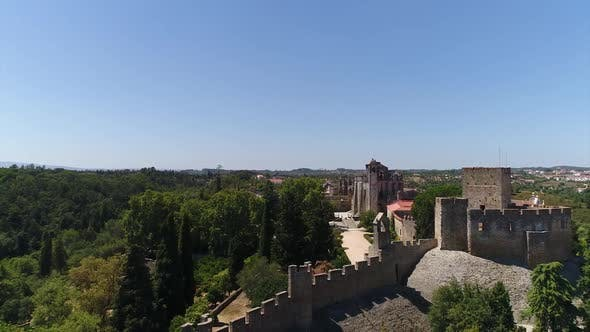 Thumbnail for Flight Portuguese Templars Castle and Convent of Christ in Tomar, Portugal