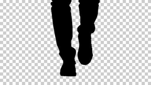 Silhouette  men shoes , Alpha Channel