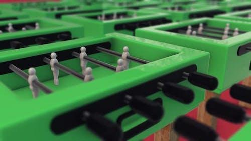 Multiple Foosball Or Soccer Tabletops In A Row Hd
