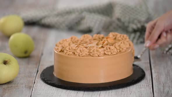 Thumbnail for Delicious Apple Layer Cake with Caramel Cream.