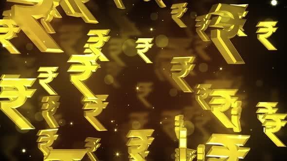 Falling Rupee Symbols