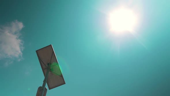 Thumbnail for Street Lamp with Solar Battery Against the Sky
