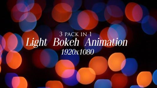 Cover Image for Light Bokeh Animation Pack 1