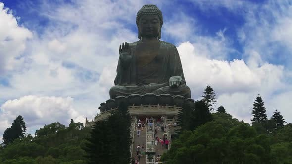 Thumbnail for Big Buddha in Hong Kong and Tourists