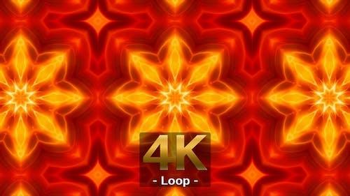 Fire Color Kaleidoscope Loop 4K 05