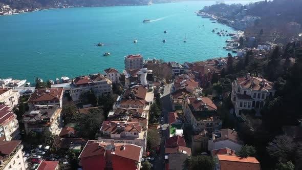 Thumbnail for Istanbul Bebek Bosphorus Aerial View 15