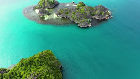 Caramoan Islands, Philippines. Tropical Island with a White Sandy Beach.