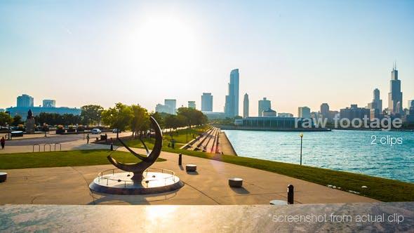 Thumbnail for Chicago Skyline Sunset