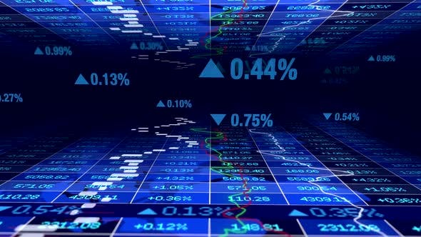 Thumbnail for Stock Exchange Trading Data Showing Investment Trend Numbers