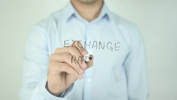 Cover Image for Exchange Rates, Writing On Screen
