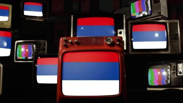 Thumbnail for Flag of Misiones Province, Argentina, and Retro TVs.