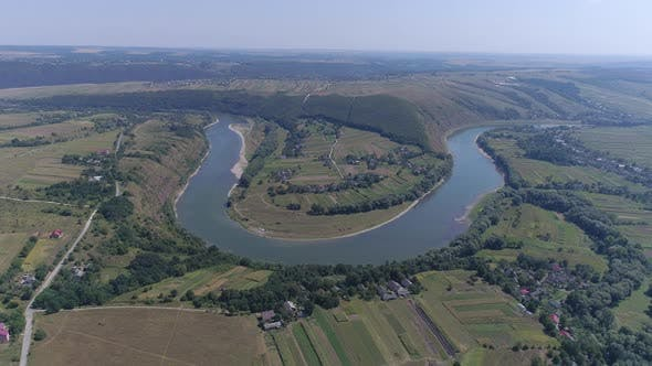 Thumbnail for Aerial of a curved river