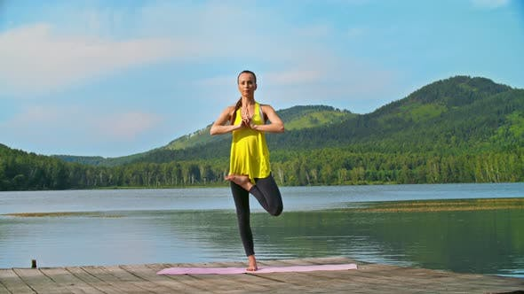 Cover Image for Tree Pose by a Lake