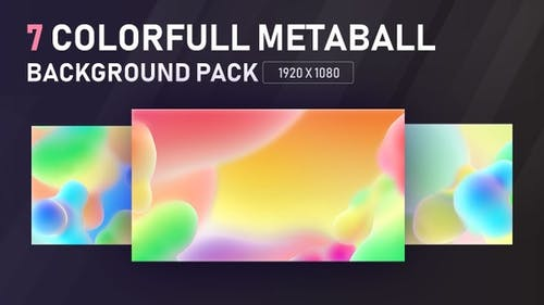 Colorfull Metaball Background Pack