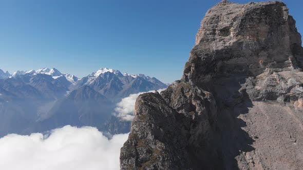Thumbnail for Aerial View of Fog in the Mountain Gorge