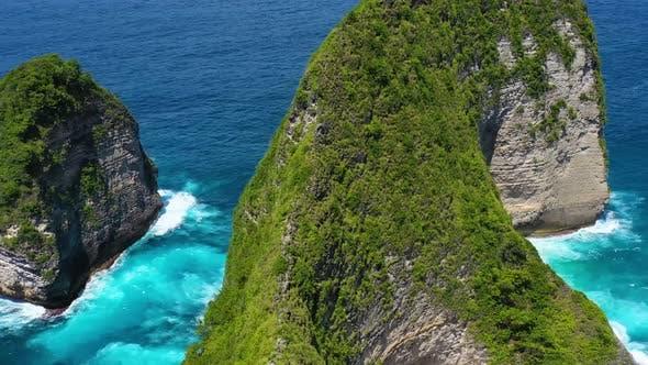 Thumbnail for Kelingking Beach, Nusa Penida, Bali, Indonesia. Aerial View at Sea and Rocks.