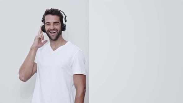 Dancing Guy Wearing Headphones
