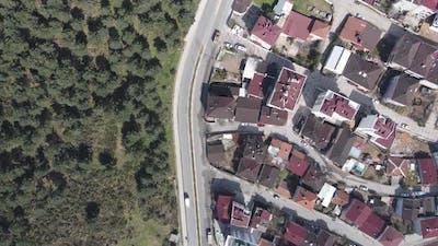 Aerial Drone Urban City