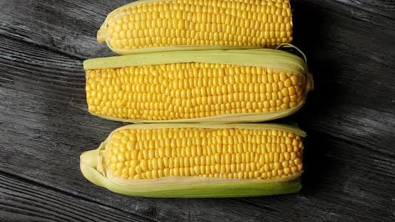 Thumbnail for Raw Yellow Corncobs on Table