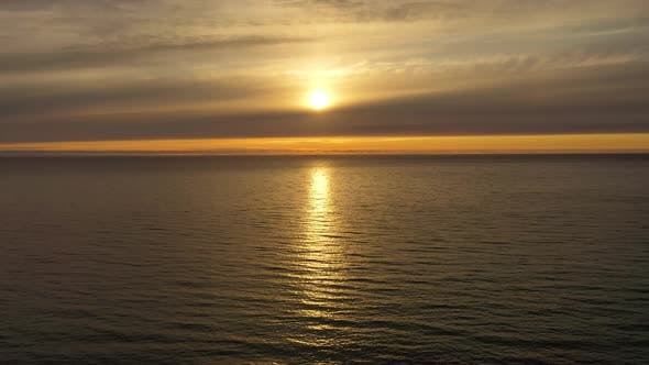 Cover Image for Beautiful Sunset Over the Sea