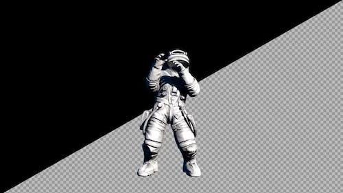 8K Astronaut Dance VJ Loop