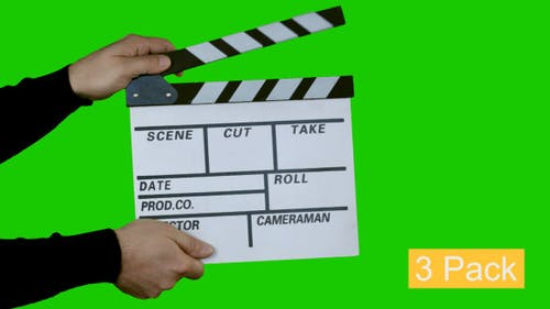 Film Slate Clapper With Clipping Path (3-Pack)